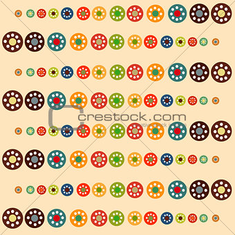 Bright circles baby seamless background.