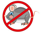 Sign prohibiting rodent