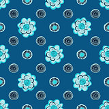 Vintage abstract flower seamless pattern  background.