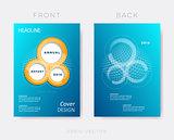 Creative modern annual report design template