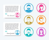 Simple business people icons