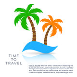 Vector holiday travel design template