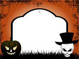 Halloween tombstone copy space