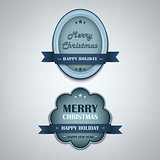 Christmas blue vintage retro design style element