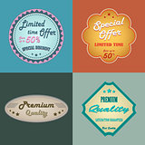 Discount retro design vintage style element template