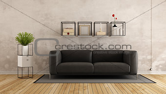 Old room with modern furniture