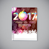 Abstract Beauty 2017 New Year Celebration Poster Background. Vec