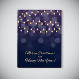 Book Cover Template. Abstract Beauty Merry Christmas and New Yea