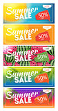 Summer Sale end of Season Banner. Business Discount Card Templat
