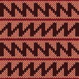 Knitting ornate seamless pattern with zigzag lines