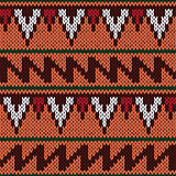 Knitting ornate seamless ethnic pattern with geometric color fig