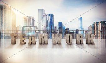 Business teamwork view. 3d rendering