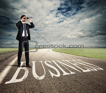 Businessman aspires to business success