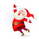 Vector Santa Claus singing Christmas song illustration