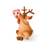 Christmas reindeer vector illustration