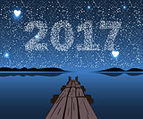Vector Happy New 2017.