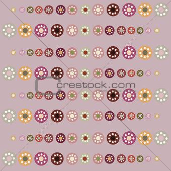 Beautiful pastel circles seamless background.