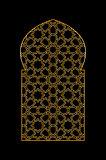 Gold islamic window