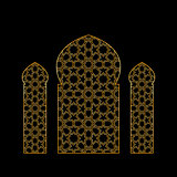 Gold islamic window