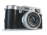 Retro vintage camera  isolated on white