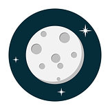 Moon icon flat