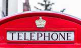Red telephone box in London. England, UK