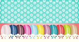 Colorful france macarons banner