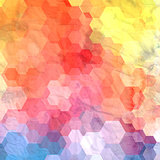 Abstract watercolor background polygons