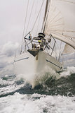 Close up of Sailing Boat or Yacht at sea