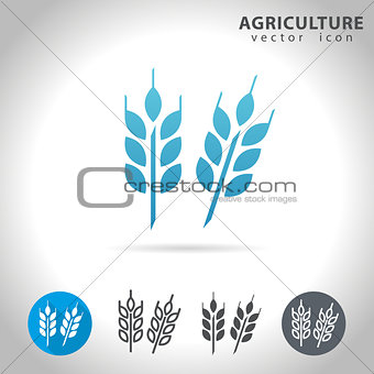 agriculture blue icon