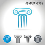 architecture blue icon