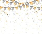 Gold and silver party background
