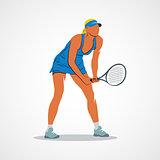 tennis, racket, athlete