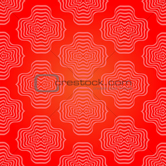 Abstract Red Geometric Retro Pattern