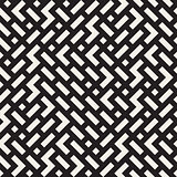 Vector Seamless Black And White Irregular Jumble Geometric Shapes Pattern