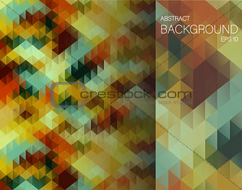 Abstract background with triangles. Vector illustration