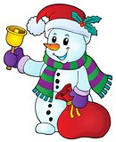 Christmas snowman topic image 1