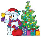 Christmas snowman topic image 6