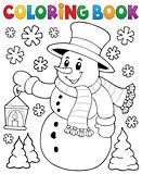 Coloring book snowman topic 2