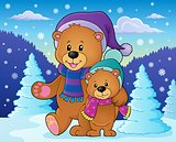 Stylized winter bears theme 2