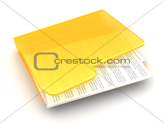 folder with text documents