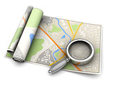map and magnify glass