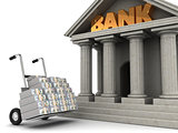 money to bank
