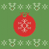 Christmas and New Year knitted label. Snowflake greeting card.