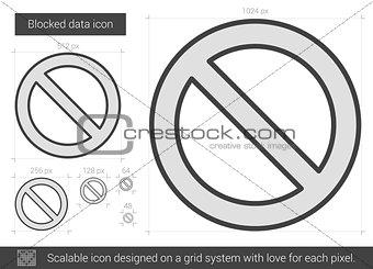 Blocked data line icon.