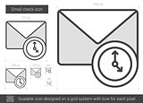 Email check line icon.