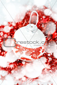 Bright Setting with Christmas Tree Decorations