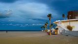 Malvarrosa coast beach in Valencia
