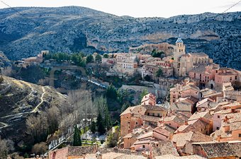 Albarracin, medieval terracotte village in Spain