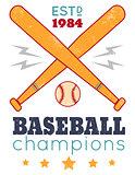 Vintage poster for baseball
